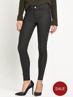 river-island-river-island-molly-short-leg-coated-skinny-jeans