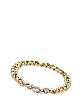 love-silver-solid-sterlinf-silver-with-bonded-9ct-gold-curb-bracelet