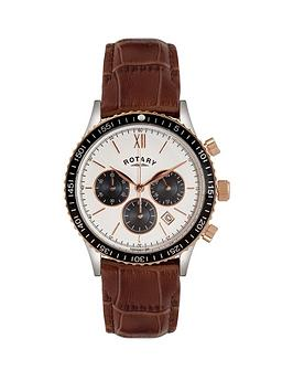 rotary-rotary-white-dial-chronograph-brown-leather-strap-mens-watch