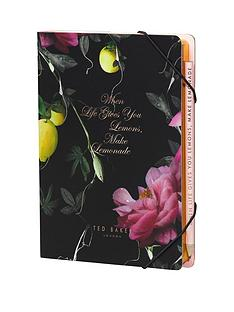 ted-baker-ted-baker-citrus-bloom-a5-notebook-amp-sticky-notes