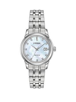citizen-citizen-eco-drive-silhouette-diamond-mother-of-pearl-stainless-steel-bracelet-watch