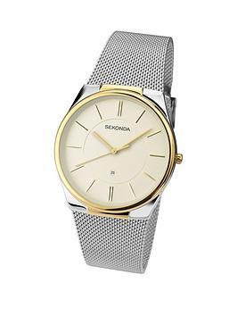 sekonda-cream-dial-silver-tone-stainless-steel-mesh-mens-watch