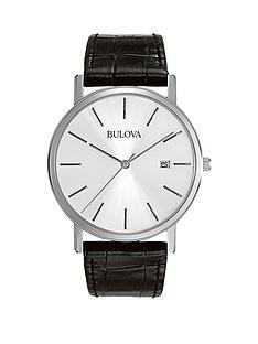 bulova-bulova-silver-tone-dial-black-leather-strap-mens-watch