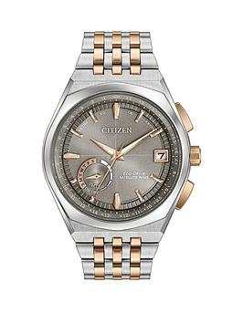 citizen-citizen-eco-drive-satellite-wave-world-time-gps-grey-dial-two-tone-bracelet-mens-watch