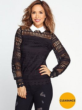 myleene-klass-lace-blouse-black