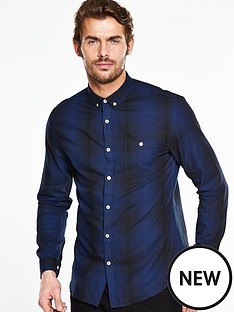 v-by-very-long-sleeve-shadow-checknbspshirt-blue
