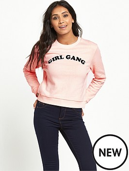 miss-selfridge-petitenbspgirl-gang-sweatshirt-pink