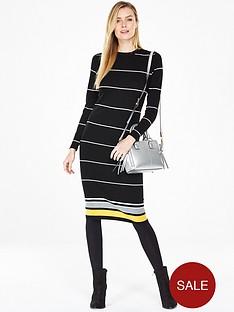 v-by-very-crew-neck-stripe-midi-dress