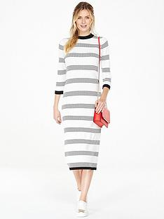 v-by-very-textured-stripe-column-midi-dress