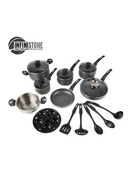 tower-tower-infinistone-9-piece-stone-coated-pan-set-granite-graphite