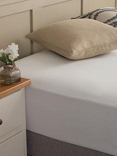 silentnight-easycare-180-thread-count-cotton-rich-double-size-fitted-sheet--nbspwhite