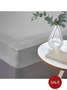 silentnight-easy-care-180-thread-count-cotton-rich-fitted-sheet-silver