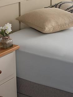 silentnight-easycare-180-thread-count-cotton-rich-fitted-sheet--nbspsilver