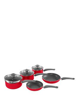 morphy-richards-chroma-5-piece-pan-set-in-poppy