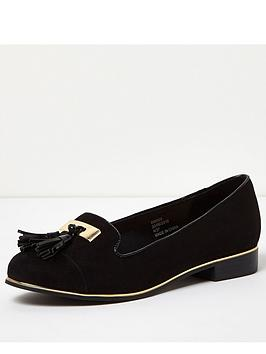 river-island-wide-fit-block-heel-flat-shoenbsp