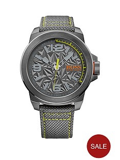 hugo-hugo-boss-grey-dial-green-accent-grey-strap-mens-watch