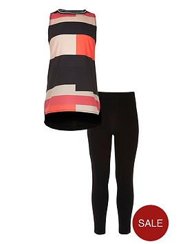 river-island-girls-black-colour-block-top-and-leggings-set