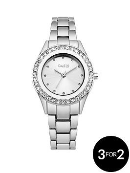 oasis-white-sunray-dial-stone-set-bezel-ladies-watch