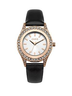 oasis-rose-gold-stone-set-bezel-black-pu-strap-watch
