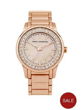 french-connection-french-connection-mother-of-pearl-dial-stone-set-bezel-rose-goldtone-bracelet-ladies-watch