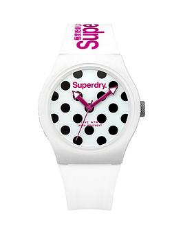 superdry-superdry-urban-dot-white-polka-dot-dial-white-silicone-strap-ladies-watch