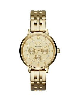 armani-exchange-gold-tone-multi-dial-stainless-steel-bracelet-ladies-watch