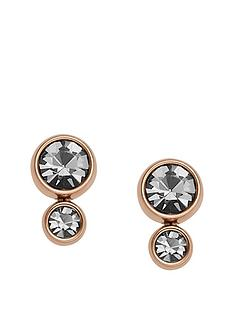 fossil-fossil-rose-gold-plate-graduated-crystal-earring