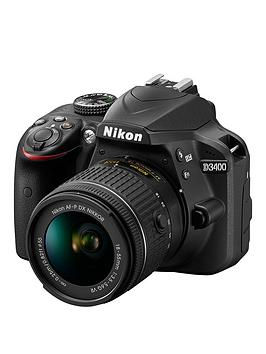 nikon-d3400-dslr-camera-with-af-p-18-55mm-vr-lensnbspsave-pound75-with-voucher-code-lwpmv