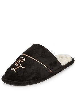 river-island-monogram-mule-slippers
