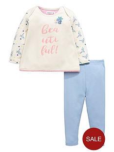 ladybird-baby-girls-floral-slogan-sweat-top-and-leggings-set