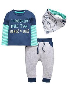 ladybird-baby-boys-dino-bandananbspbib-top-and-joggers-set-3-piece