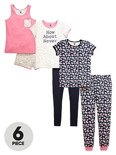 v-by-very-girls-floral-pyjamas-set-6-piece