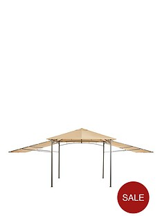 3-x-3-metal-gazebo-with-2-side-extensions