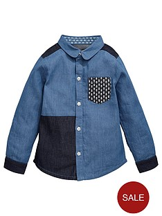 mini-v-by-very-girls-fashion-patchwork-denim-shirt