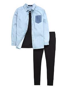 v-by-very-girls-denim-shirt-vest-and-leggings-set