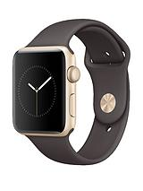 Watch Series 1, 42mm Gold Aluminium Case with Cocoa Sport Band