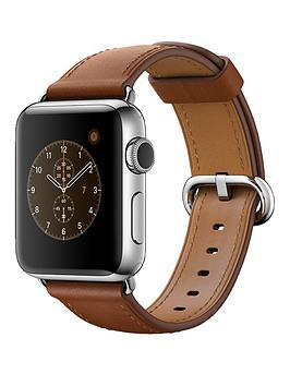 apple-watch-series-2-38mm-stainless-steel-case-with-saddle-brown-classic-buckle
