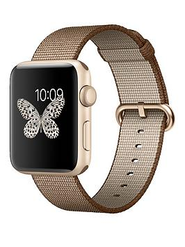 apple-watch-series-2-42mm-gold-aluminium-case-with-toasted-coffeecaramel-woven-nylon-band