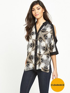 river-island-printed-cold-shoulder-shirt