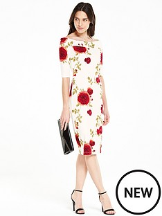 v-by-very-pontenbspfloral-printed-bardot-dress
