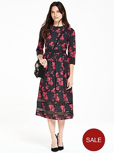 v-by-very-floral-printed-lace-insert-midi-dress