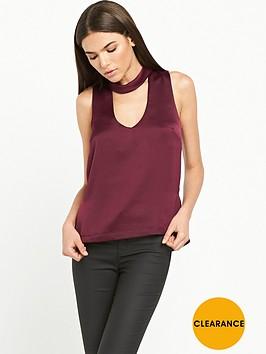 river-island-satin-choker-blouse