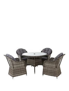 florida-5-piece-grey-rattan-dining-set