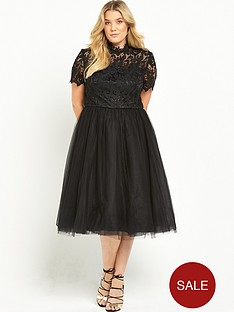 chi-chi-london-curve-high-neck-lace-dress-black