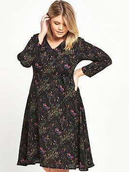 alice-you-alice-amp-you-short-sleeve-midi-printed-dress