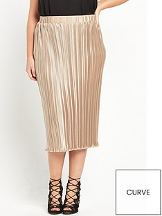 alice-you-pleated-midi-skirt-gold