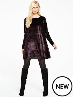 v-by-very-velvet-swing-dress