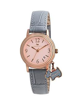 radley-darlington-rose-dial-dog-charm-grey-leather-strap-ladies-watch