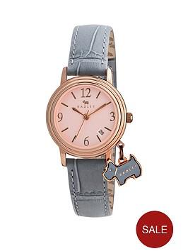 radley-darlington-rose-dial-dog-charm-grey-leather-strap-ladies-watch