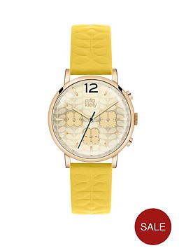orla-kiely-orla-kiely-patterned-dial-yellow-strap-ladies-watch